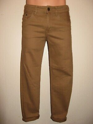 Worn Once Boys H & M Skinny Stretch Caramel Brown Skinny Leg Jeans Age 11-12-13