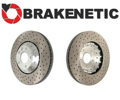 FRONT SET BRAKENETIC PREMIUM Cross DRILLED Brake Disc Rotors BNP44107.CD