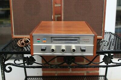 Vintage 1960s Craig Pioneer Corp. Eight Track Player with Speakers Model 3204