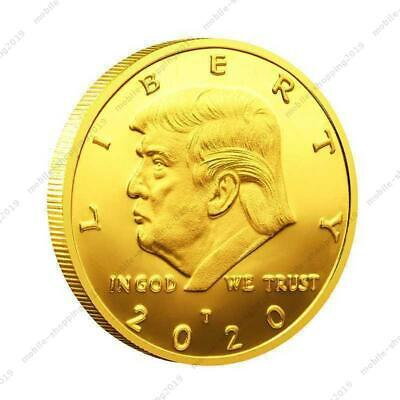 HOT New 2020 President Donald Trump Gold Plated EAGLE Commemorative Coin @MY