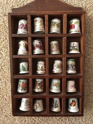 Thimbles bulk lot of 20 mixed Thimbles great collection. Includes Rack