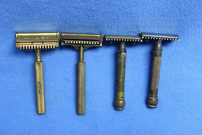 Vintage lot of 4 Safety Razors Gillette Valet