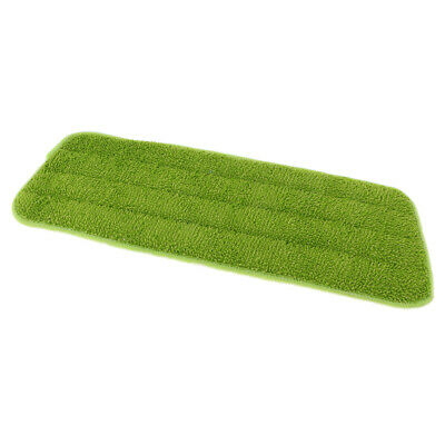 Reusable Household Flat Spray Mop Pad Floor Cleaning Mop Head Cloth Green