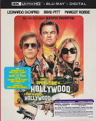 ONCE UPON A TIME IN HOLLYWOOD 4K ULTRA HD & BLURAY & DIGITAL SET with Brad Pitt