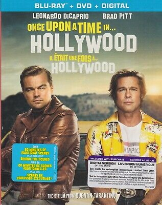 ONCE UPON A TIME IN HOLLYWOOD BLURAY & DVD & DIGITAL SET with Leonardo DiCaprio