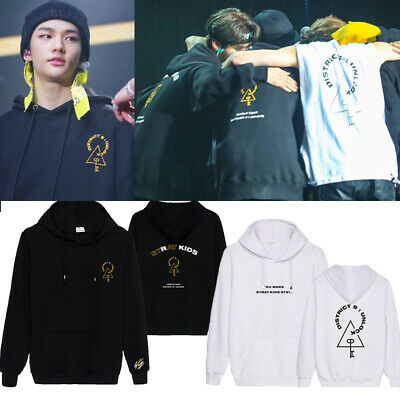 Stray Kids World Tour District 9 Unlock Hoodie Sweater Pullover Coat