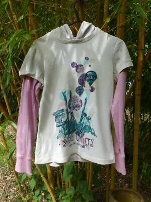 Fat Face Long Sleeved Hooded t-Shirt 10-11 years Very Good condition Girls