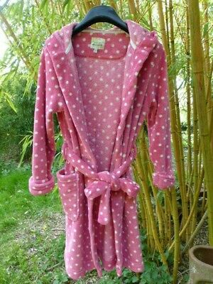 Joules Girls Pink Dressing Gown Size 11-12 years Good  Condition