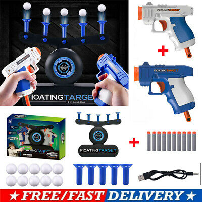 Hover Floating Target Air Shot Game USB Foam Dart Blaster Shooting Ball Toy Gift