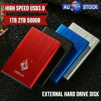 USB 3.0 2TB 1TB External Hard Drive Disk HDD 2.5'' Fit For PC Windows AU Sale