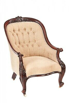 Quality Victorian Carved Mahogany ArmChair