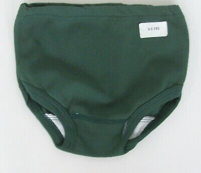 Girls age 3-5yrs stretchy nylon knickers panties briefs bottle green