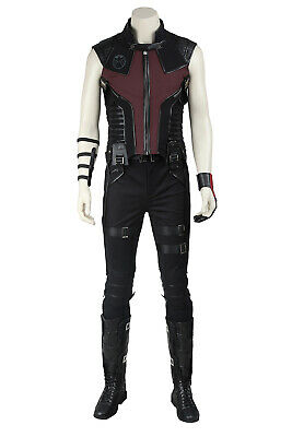 The Avengers 1 Hawkeye Clinton Francis Outfit Cosplay Costume Halloween + Shoes