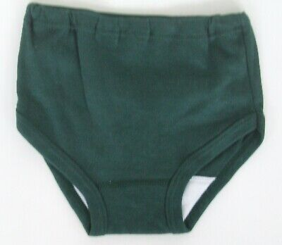 Girls age 3-5yrs cotton interlock knickers panties  briefs bottle green