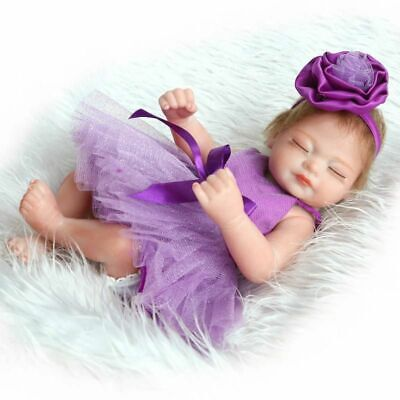 "Handmade 10"" Reborn Realistic Doll Full Body Newborn Toddler Sleeping Girl Toy"