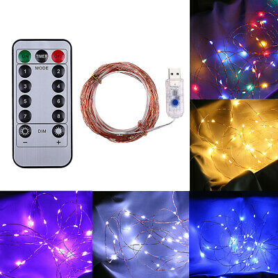 50LED USB/Battery Micro Rice Wire Copper Fairy String Lights Party Decor 8 Model