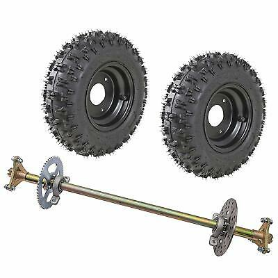 Mini Bike 2 PIECE Wheel Kit with disc brake SPROCKET 410 350 6 TIRES lever cable