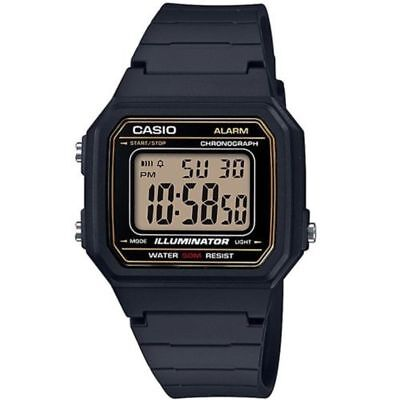 CASIO W217H 9AV, CHRONOGRAPH Watch, Black Resin Band, Alarm