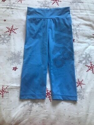 Adidas Blue Climalitencropped leggings - Age 9-10