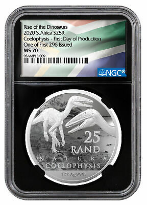 2020 S. Africa 1 oz Silver Natura NGC MS70 FDP One of First 296 Issued SKU60164