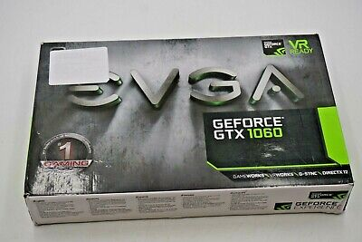EVGA Nvidia GeForce GTX 1060 6GB GDDR5 Graphics Card