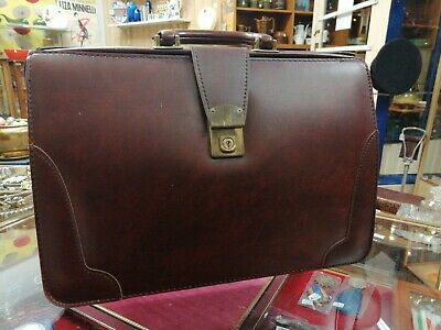 Vintage Marks and Spencer Cheney Leather Doctors Gladstone Bag Briefcase
