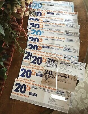 Lot of 14 Bed Bath And Beyond 20% Off Single Item Coupons ~ All Expired Coupons