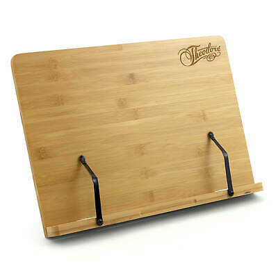 Theodore Wooden Bamboo Adjustable Tabletop Book Rest Sheet Music Stand 390mm x 2
