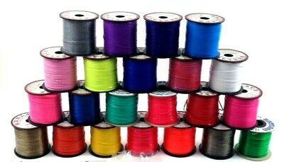 Lot of 22 Rexlace Assorted Color Plastic Lacing Spools with Instruction Booklets