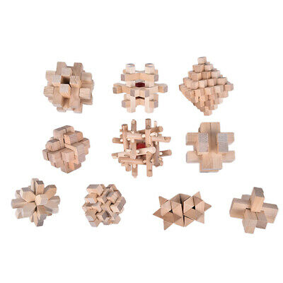 Wooden Puzzle Magic Ball Brain Teasers Toy Intelligence Game Sphere Puzzles X5Y8