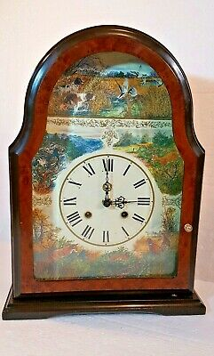 Hermle Striking Mantle Clock Hunting Scenes With Floating Balance