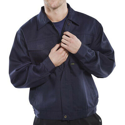 Click Heavyweight Drivers Jacket Navy 52in Blue Ref PCJ9N52