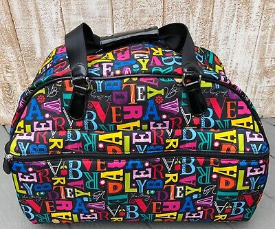 Vera Bradley Rolling From  A To Vera Duffel Carry On Travel Luggage Suitcase EUC