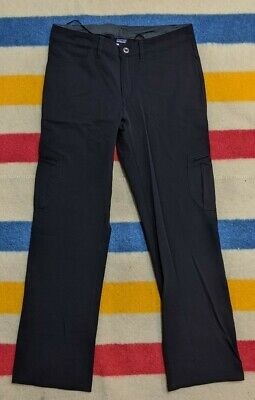 Patagonia Black Cargo Style Pocketed Spandex Hiking Outdoors Pants Women's 8
