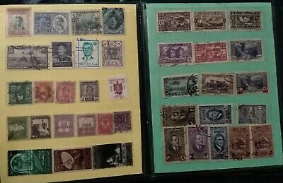 Post stamp old vintage collection  Small Album Worldwide  Four Pages lot of 73