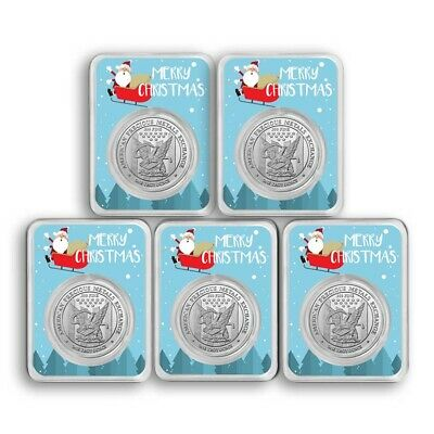 1oz Silver Round - APMEX (Santa & Sleigh, in TEP) Lot of 5