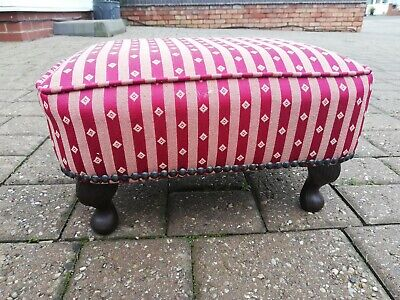 Vintage Queen Anne Style Low Footstool