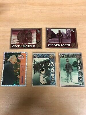 Dr/ Doctor Who - Series 1 Foil / Chase card Bundle Cornerstone Daleks Cybermen