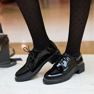 1 Pair Women Lace-up Shoes Comfortable Flat Shoes Leisure Shoes for Ladies Girls