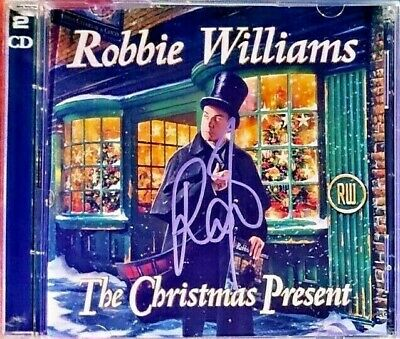 Robbie Williams the Christmas present hand signed 2 CD & 2 free cassettes santa