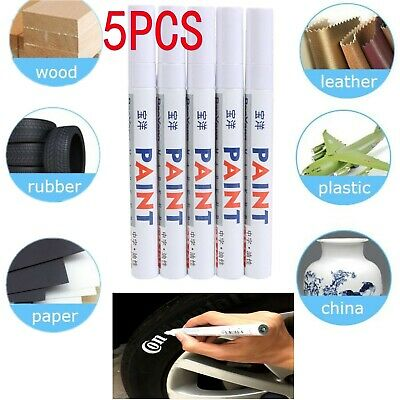 6X White Paint Pen Marker Waterproof Permanent Car Tire Lettering Rubber Letter