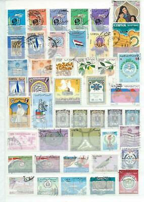 Libya  : Collection..album Page Different Modern Used Stamps