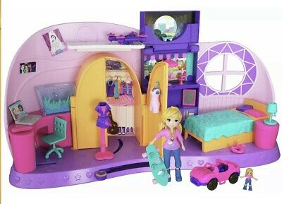 Polly Pocket Go Tiny! Room Playset Xmas Present Gift Toy