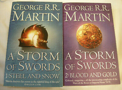Game Of Thrones -  A Storm Of Swords Part 1 & 2 By George R.r.martin