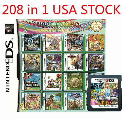 208 in 1 Game Cartridge Multicart For Nintendo DS NDS NDSL NDSI 2/3DS Christmas