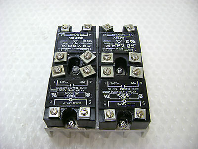 3205 4 Crydom & Silicon Power Cube Solid State Relays