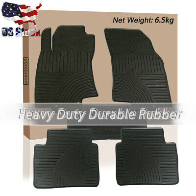 OEM NEW Front /& Rear All Weather Floor Mat Set Black 14-19 Rogue 999E1-G2000