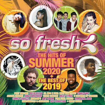 SO FRESH - THE HITS OF SUMMER 2020 & Best Of 2019 - Various Artists 2CD *NEW*