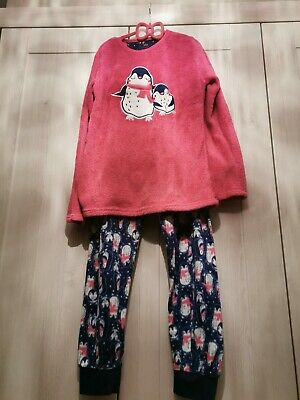 Girls Fleece pyjamas Age 11-12 Super warm And Cosy. Excellent Condition