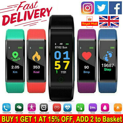 Sports Waterproof Fitness Activity Tracker Smart Watch Fit**bit StyIe Bluetooth.